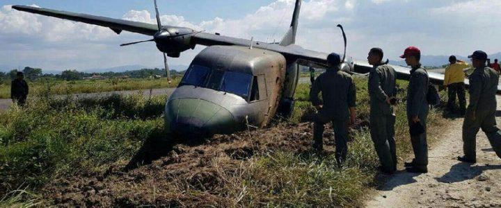 Pesawat TNI AD Tergelincir di Bandung