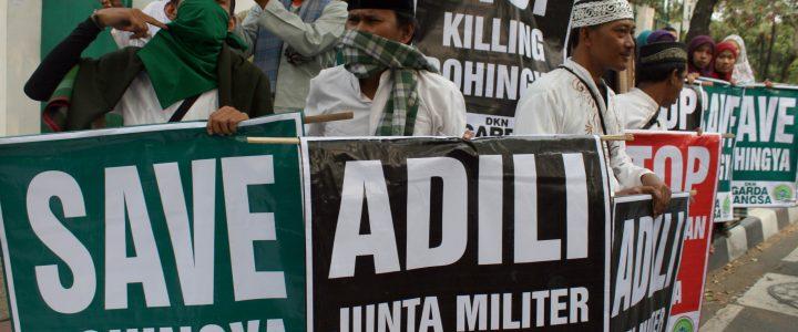 Sejumlah Massa Di Tanah Air Demo Solidaritas Untuk Rohingya